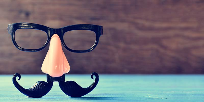 humor fake nose glasses mustache
