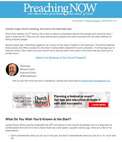 PreachingNow Newsletter