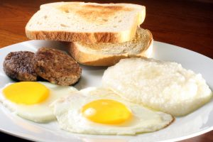 Eggs, Toast, and Grits