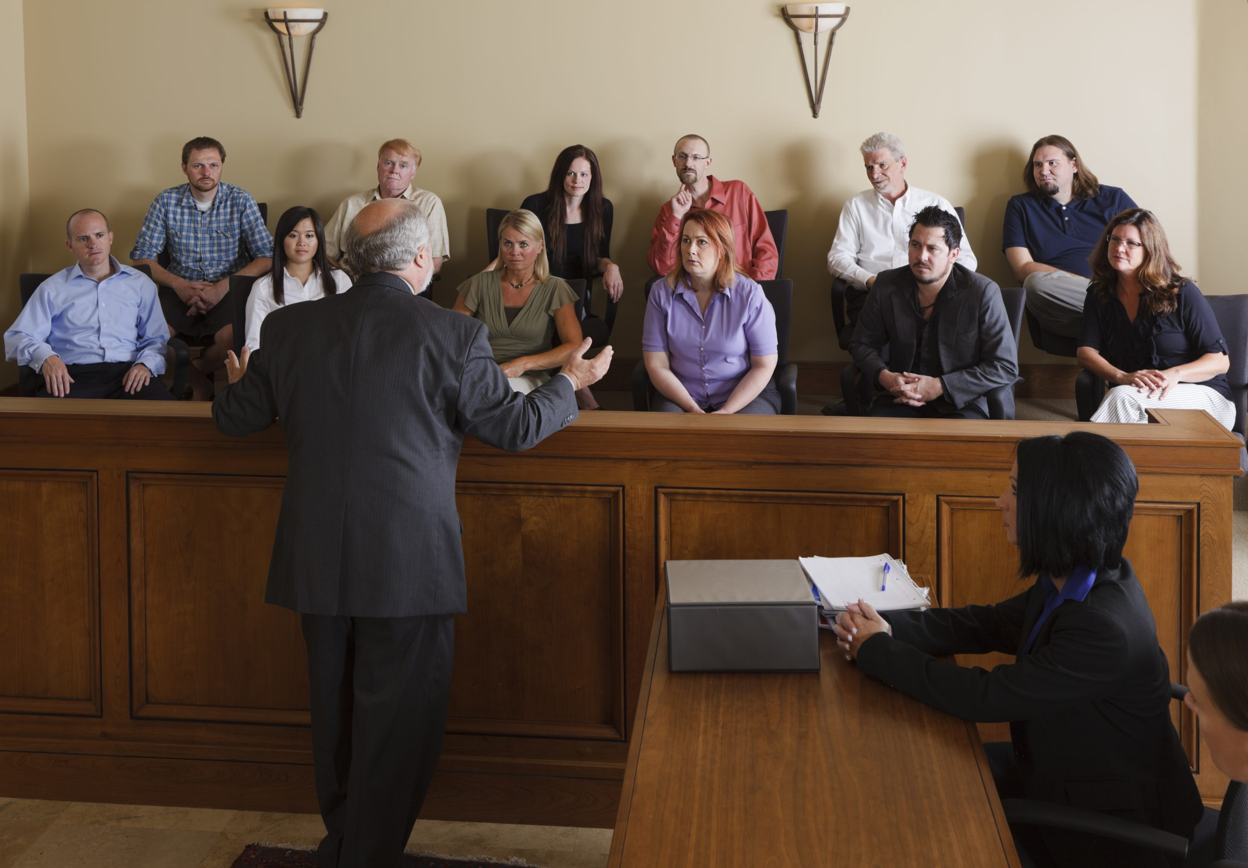 Lawyer Attempting to Convince Jury