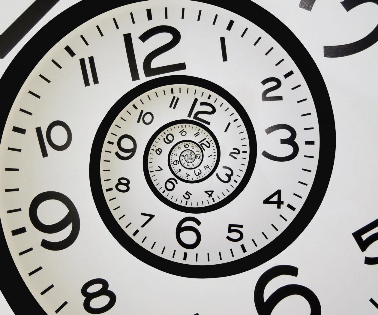 clock spinning into eternity